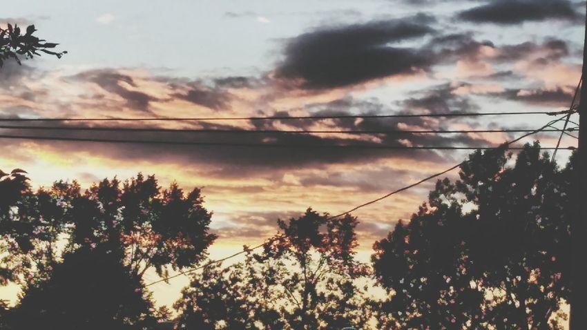 ×וThey're just passing by×ו☁☁☁ Sunset Beauty In Nature Let's Go. Together.