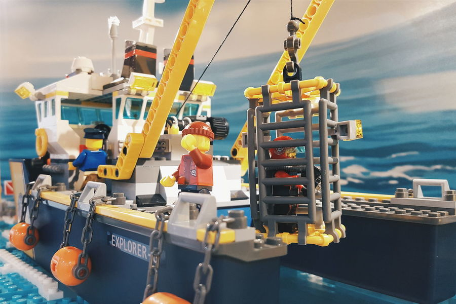 We're gonna need a bigger boat LEGO Lego Minifigures Lego Mini Figures Legos Lego Toys Toys Boat Toys Showcase March