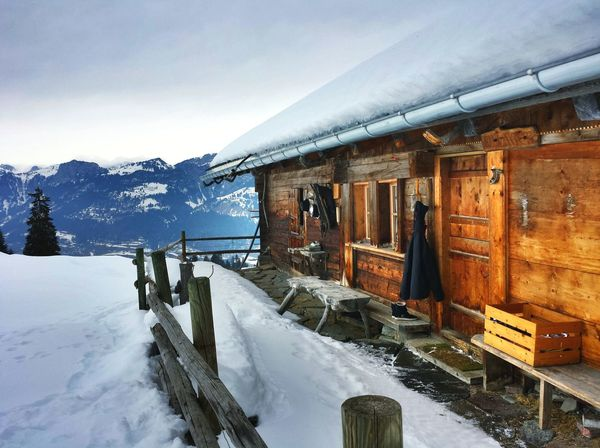 Snow Winter Cold Temperature Outdoors Day No People Built Structure Switzerland❤️ Swiss Swiss Alps Swiss Mountains House Mountainhouse