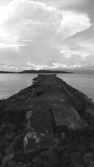Forgotten Outdoors Transportation Philippines Philippines <3 Ruined Wasted! Wasted Money Dumped Philippines ❤️ Philippines 2017 Waste Of Money Philippinesphotography Government Property Pier No Use Rocks And Water Oceanview Disposed