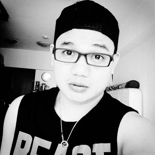 Man In Black Black & White Selfie Selfportrait