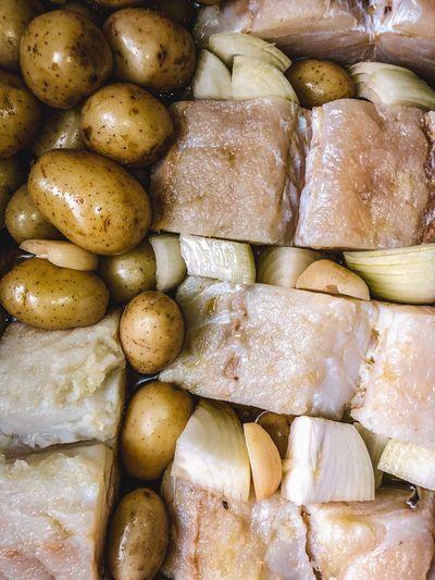 Full frame shot of food for sale in market