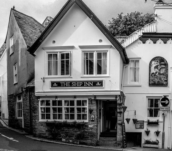 The Sun Inn, Fowey, Cornwall Cornwall Pubs Architecture Black And White