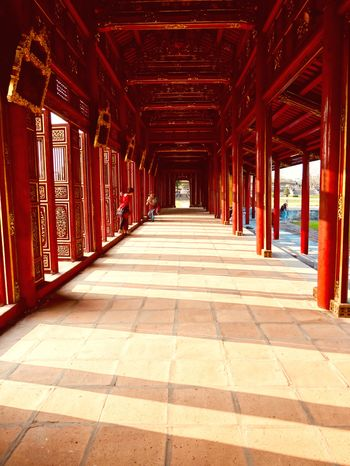 Architecture The Way Forward Built Structure Architectural Column Day Red Travel Destinations Vietnam Trip Vietnam Travel KingsPalace An Eye For Travel