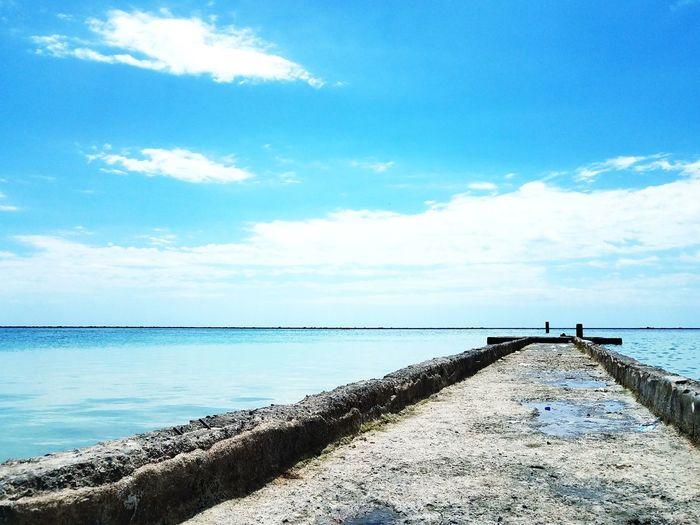 Just Relax. Sunny Day Sunny Blue Sky Dominican Republic Santo Domingo Water Sea Beach Groyne Blue Sand Sky Horizon Over Water Cloud - Sky