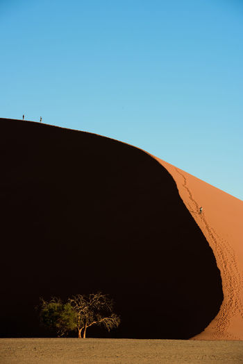 Clear Sky Climbing Desert Dune45 Dunes EyeEm Landscape Landscape_Collection Landscape_photography Namib Desert Namibia Nature Outdoors