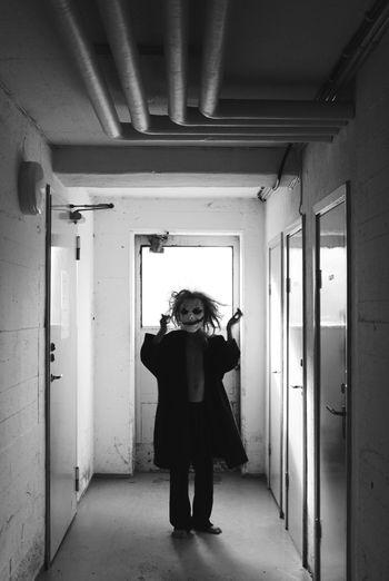Friday mood 🙌🏽 TheWeekOnEyeEM Light Monochrome Blackandwhite Portrait Batman Joker Uniqueness