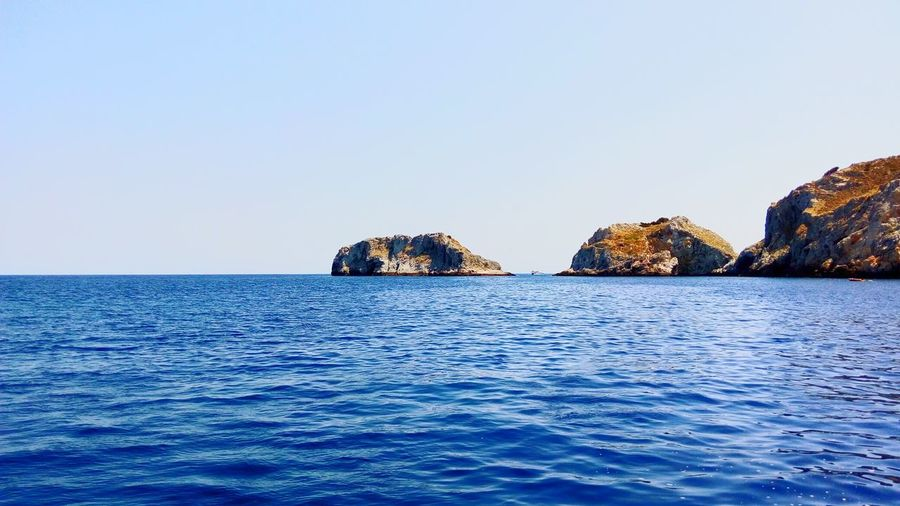 Sea No People Tranquility Scenics Horizon Over Water Tranquil Scene Blue Nature Greek Summer Summeringreece Summer Skiathos Greece Greek Islands GREECE ♥♥ Vacations Boat Sky