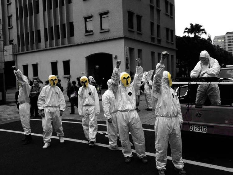 NO NUKES Demonstrators Face Masks Nonukes Nuke Rally Taipei Taiwan First Eyeem Photo EyeEmNewHere