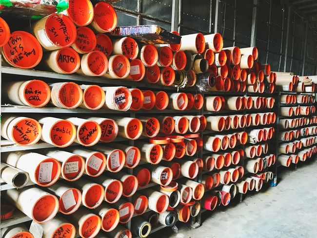 Warehouse Roll Large Group Of Objects Abundance In A Row Arrangement Indoors  For Sale Retail