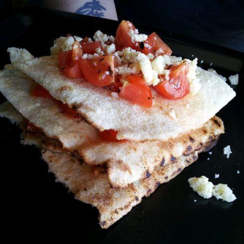 Lasagne di pane carasau con pomodoro fresco Foodporn