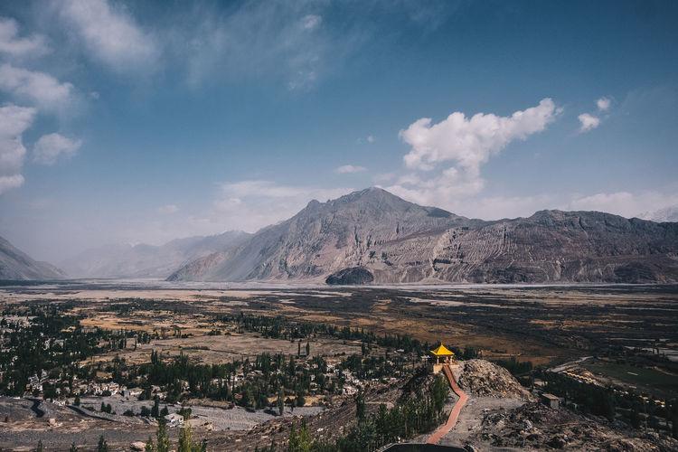 Landscape Against Mountains