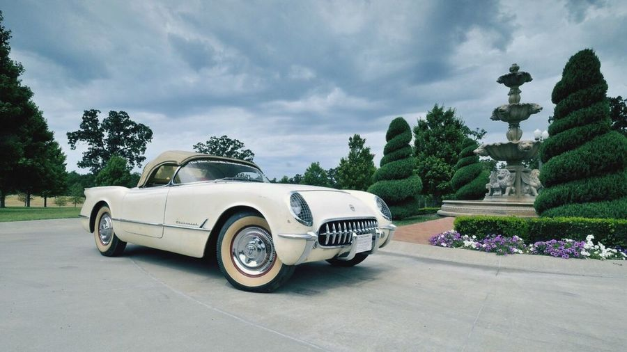 Corvette Roadster Bush Clouds And Sky Clouds Luxury Luxurylifestyle  Check This Out That's Me Hanging Out Hello World Enjoying Life Taking Photos Relaxing Beautiful EyeEm Gallery Car Best EyeEm Shot EyeEmBestPics Beautiful Colors Trees Reflection Fountain Fountain_collection My Car