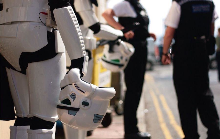 Stormtrooper Police Human Meets Technology The Street Photographer - 2016 EyeEm Awards