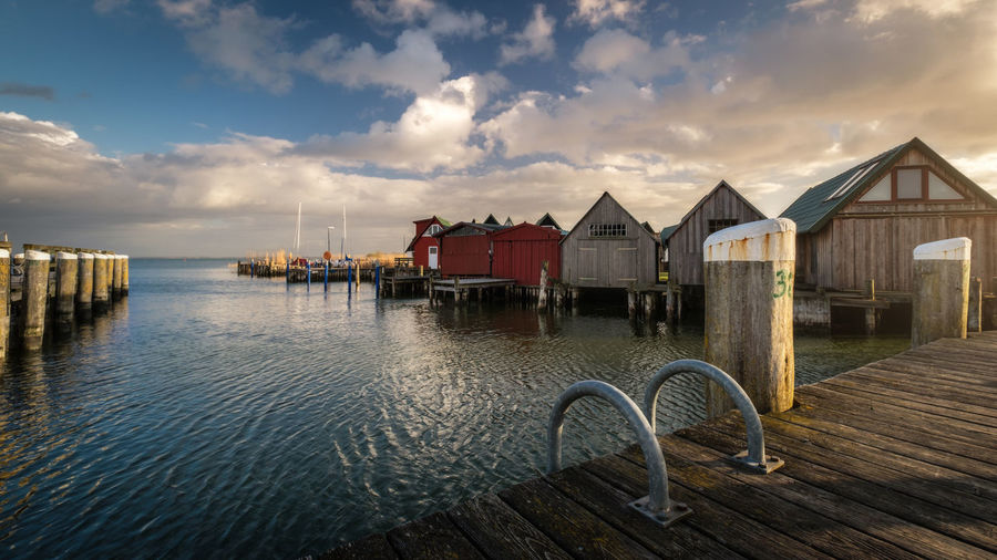 Hafen Harbor Architecture Beauty In Nature Building Exterior Built Structure Cloud - Sky Day Fishing Haven Nature No People Outdoors Scenics Sea Sky Water