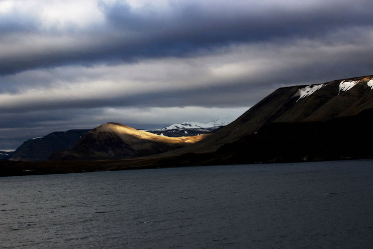 Norway🇳🇴 Spitzbergen Sunshine And Shadows Beauty In Nature Mountain Mountain Range Non-urban Scene Scenics - Nature Snowcapped Mountain