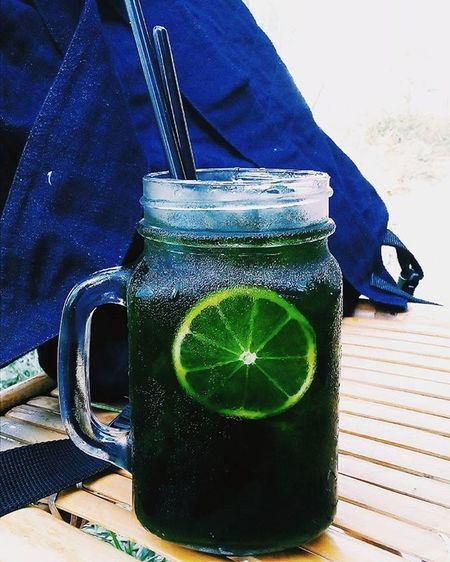Trà tranh Thái Lan =)))) for a hot day Foodycantho Ctu TheFox Canthouniversity Ahotday Lemontea Green Sofresh