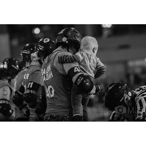 Favourite shot from this past weekend goes to @reginarollerderby 4D hold her handsome little guy during equipment check. Rollerderby is an action sport but sometimes it's images like this that show the true spirit of the game. Mjsphotographics Yqr Regina saskatchewan strobist sportsphotography cactusv6 canon5DMarkIII sports @bloodandthunder bloodandthunder24