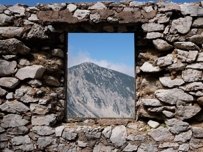Hiking Mountains Window Wall Austria