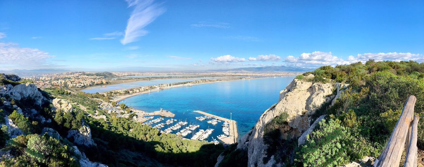 Cagliari - Sella del diavolo Sky Water Blue Beauty In Nature Nature Building Exterior No People Travel Destinations Tranquility Scenics Sea Outdoors Cloud - Sky Architecture