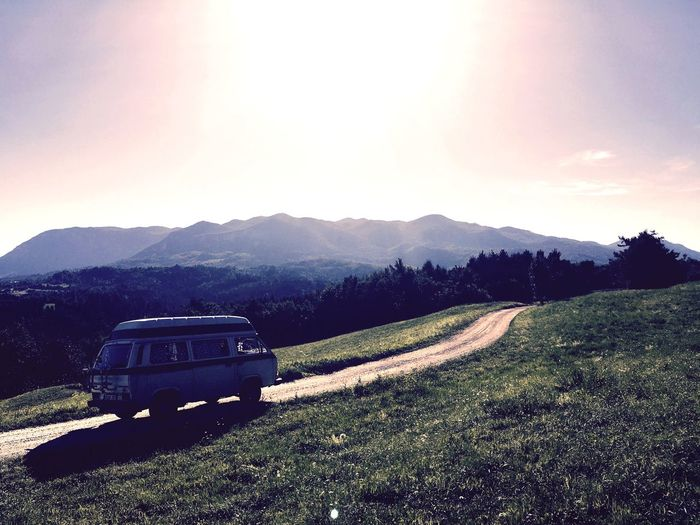 Roadtrip Volkswagen Van Slowenia Nature Beautiful View