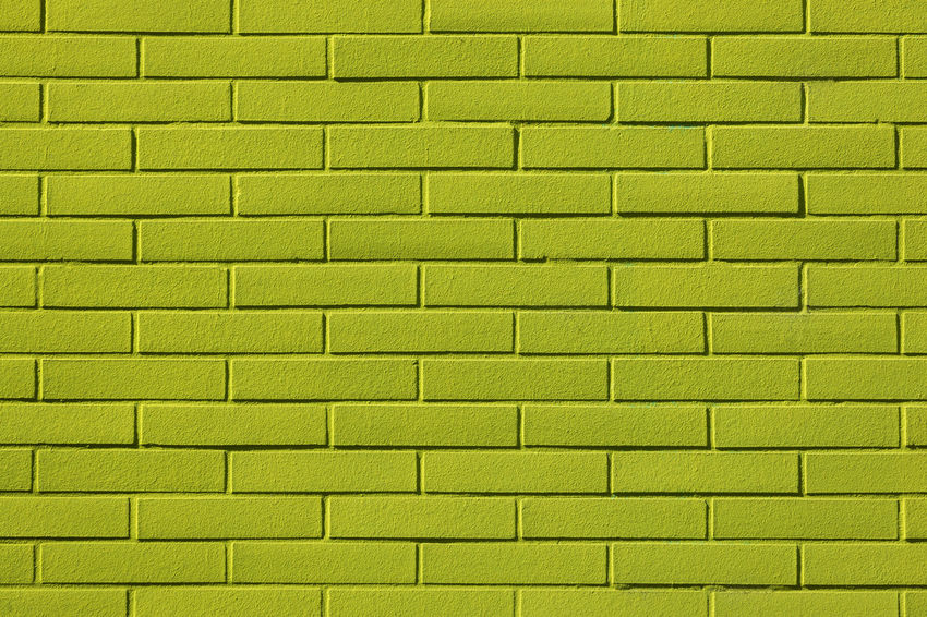 Full frame shot of lime green painted brick wall Green Background City Façade Natural Light Paint Sunny Abstract Architecture Backgrounds Brick Brick Wall Building Exterior Built Structure Close-up Full Frame Green Color Lime No People Pattern Repetition Saturated Color Textured  Textured Effect Vibrant Color Wall - Building Feature Yellow