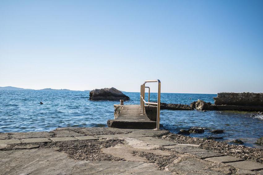 Sunny day on seashore near Dubrovnik, Croatia #bluesky #mediterranean #sea #summer Beauty In Nature Croatia Croatiafulloflife Day Nature No People Outdoors Scenics Seaside Sky Tranquility Water First Eyeem Photo