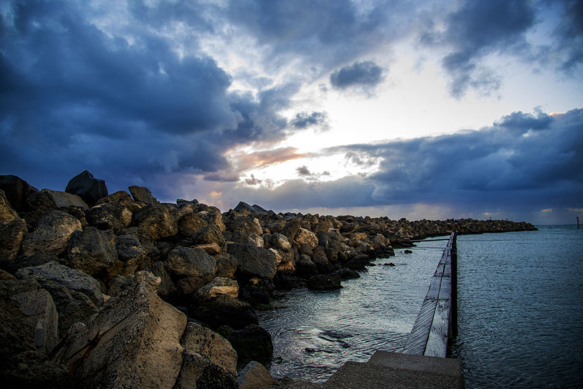 Stormy weather right on sunset Cloud - Sky Sea Sky Water Nature Scenics Beauty In Nature Taking Photos Enjoying Life Relaxing