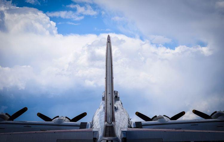 Airplane B-17 Cloud - Sky Day Low Angle View No People Outdoors Sky Ww2warbirds First Eyeem Photo