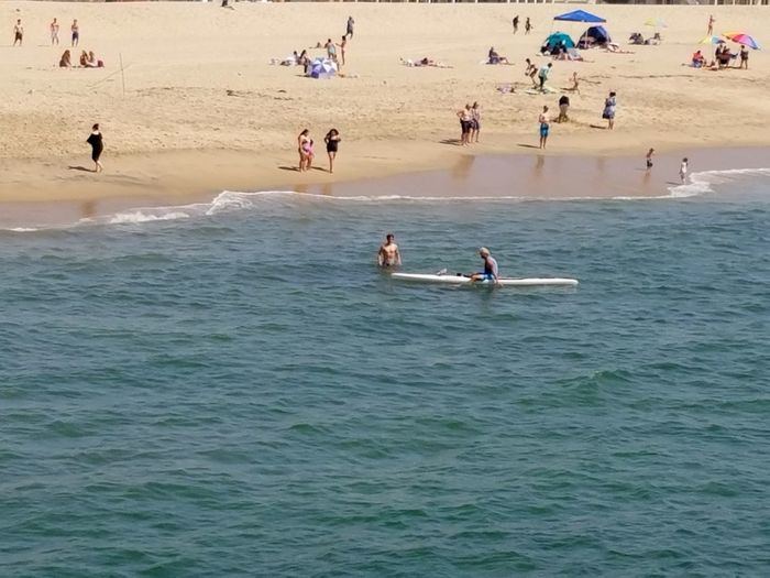 Flying High Kyaking Ocean Sportsman Leisure Activity People Large Group Of People Vacations Beach Outdoors High Angle View Lifestyles Relaxation Enjoying The Moment Fine Art Photgraphy Check This Out Swimming Surfing Ocean Real People Light And Shadow Drone  Sea Simplicity Nature Meditation