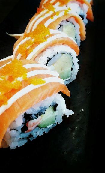 Sushi Time Sushiroll Salmonrolls Enjoying A Meal Japanese Food Foodlovers