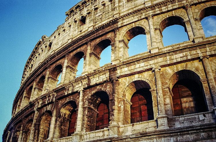 History Architecture Built Structure Building Exterior Ancient No People Arch Clear Sky Low Angle View Colosseum Rome Italy Neighborhood Map