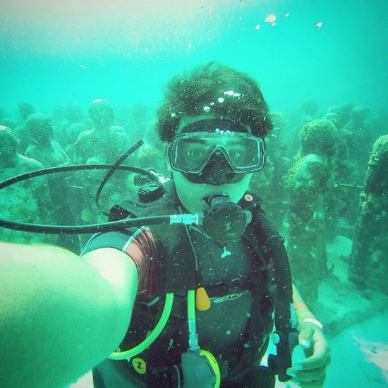 Scubadiving at Musa cancun during SpringBreak SCUBA Sealife Scubalife Gopro Goprofun_ SCUBA Dive Openwater Padi