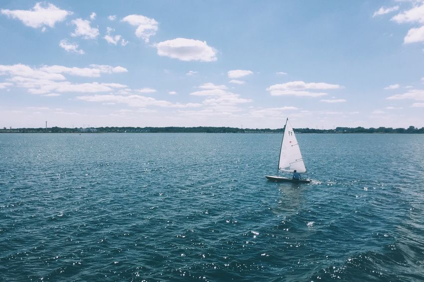 EyeEm Selects Sea Sky Sailboat Sailing Nautical Vessel Day Schlei Baltic Sea Water Transportation Outdoors Mode Of Transport Tranquility Mast Nature No People Scenics Beauty In Nature Sport Horizon Over Water Yacht