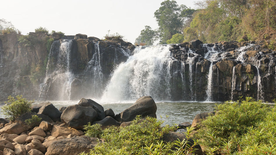 Tad Lo Waterfall, Bolaven Plateau, Laos, Asia ASIA Beauty In Nature Bolaven Plateau Day Landscape Laos Nature Outdoors Panorama Scenery Scenics Tad Lo Tad Lo Waterfall Torist Destination Tourism Tourist Attraction  Travel Travel Destination Vacations Water Waterfall