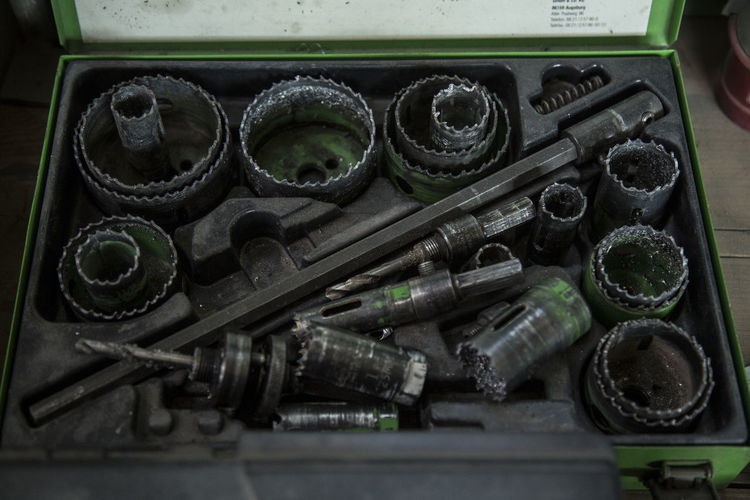 Close-up of toolkit