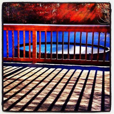Morning Shadows. #miltonvt #sunrise Vt_scene Morning Sunrise Pool Shadows Winter Silhouette Snow Outdoor Vermont Vt Vt_scenery 802 Milton_vt Miltonvt