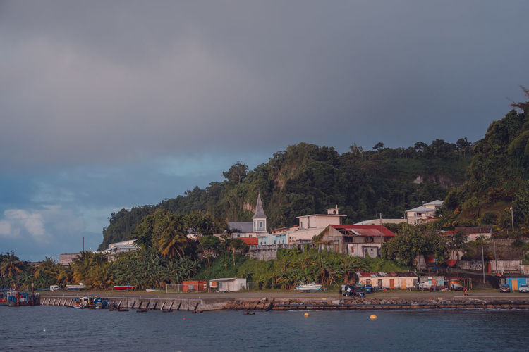 Grand Riviere Grand'Rivière Harbour Martinique Palm Tree Caribbean House Island Mountain Outdoors Portrait Sea Small Town TOWNSCAPE Tropical Tropical Climate Water Waterfront