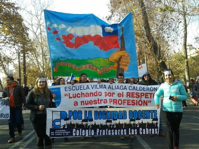 Profesores Chile♥ Santiago De Chile Marcha Docente