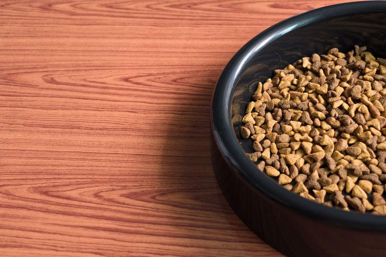 Cat food in