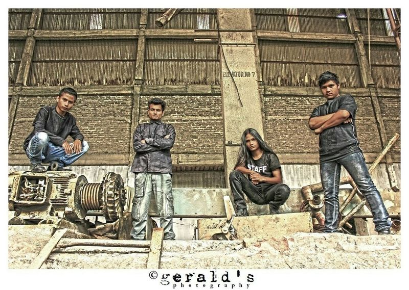Band photoshoot with Embryogenic Disfigurement a technical death metal band from Shillong Shillongbands Meghalaya. Music Musicians Metalheads Death Metal