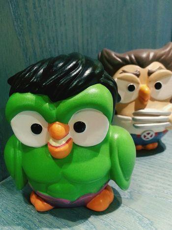 """Goofy - The incredible HULK"". Gufetti Figurines  Statuine Owls Superheroes Hulk Green Verde Smartphone Photography Galaxy Note 2 Camerazoomfx in HDR shooting mode. Eyeemfilter"