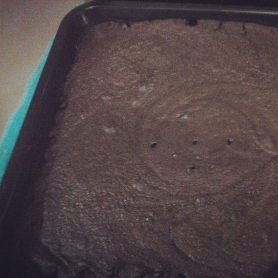 My first ever choco fudge.. Fotorus Foodie Instalove Instafood Instabaking Gluttony Chocomadness