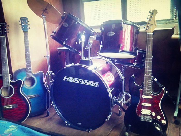 my babiiiiiiiieeesss <33 Guitars Drums My Drumset My Guitars
