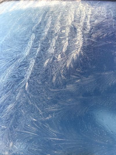 Need to scrape the windscreen! HumpH! Winter Backgrounds Frozen Pattern Close-up Ice frozen Cold Temperature Beauty In Nature