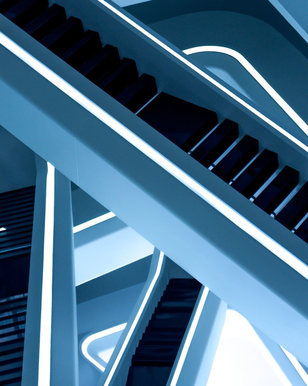 steps and staircases, staircase, architecture, steps, built structure, in a row, railing, no people, low angle view, day, indoors, close-up