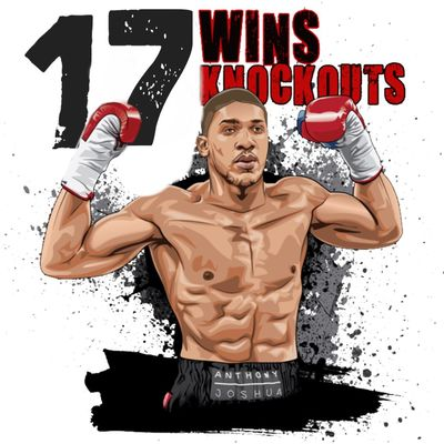My Art .. #ANTHONYJOSHUA @Anthonyfjoshua ... 17 FIGHTS - 17 WINS - 17 KNOCKOUTS !!! 😜👊😜👊😜👊😜👊😜👊😜👊 Boxing Anthonyjoshua