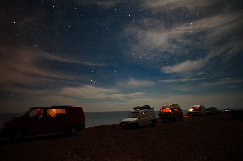 Night Star - Space Milky Way Car Astronomy Sky Red Landscape No People 4x4 Galaxy Beach Nature Constellation Space Outdoors Camping Campervan Freedom Home Is Where You Park It The Traveler - 2018 EyeEm Awards