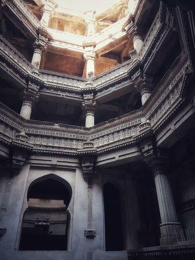 Adalaj Adalajstepwell Gujarat Gujarattourism India City Place Of Worship History Arch Architecture Built Structure Architectural Design Historic Building Civilization Architectural Detail Ancient Civilization