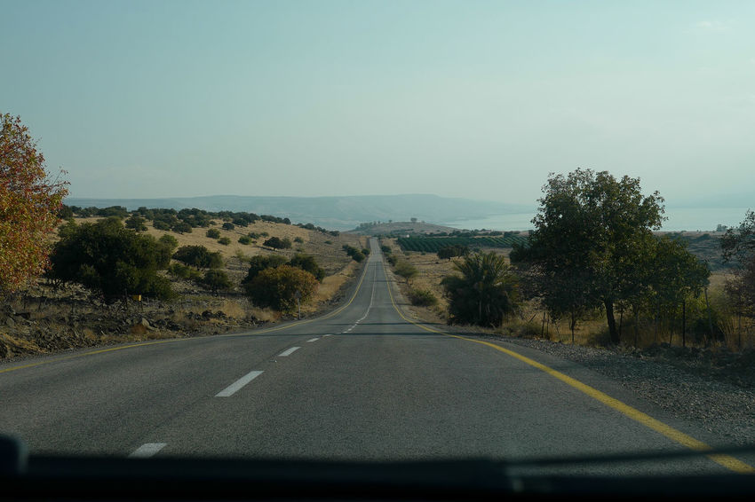 From My Car Golan Heights Traveling Dangerous Day Driving Around From My Car Window Golan Hights Israel Landscape Nature No People Outdoors Road Scenics Sky The Way Forward Transportation